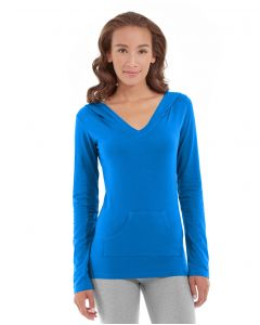Eos V-Neck Hoodie-XL-Blue